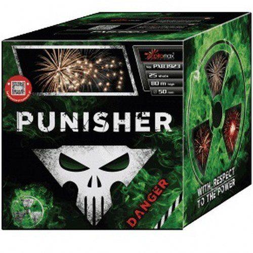 """Stobru bloks, baterija, salūts """"Punisher"""", PXB3923 - 25 šāvieni 50mm"""