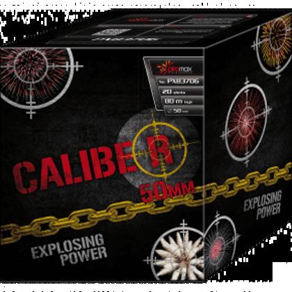"""Stobru bloks, baterija, salūts """"Caliber"""", PXB3706 - 20 šāvieni 50mm"""