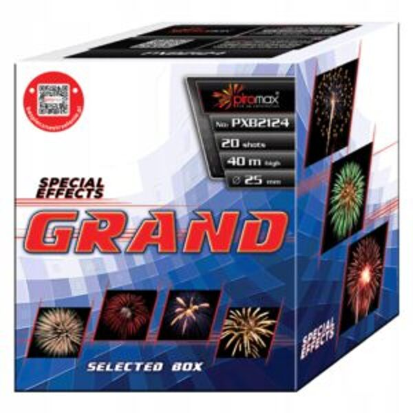 """Stobru bloks, baterija, salūts """"Grand"""", PXB2124 - 20 šāvieni 25mm"""