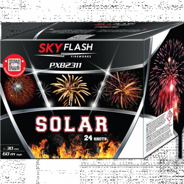 """Stobru bloks, baterija, salūts """"Solar"""", PXB2311 - 24 šāvieni 30mm"""