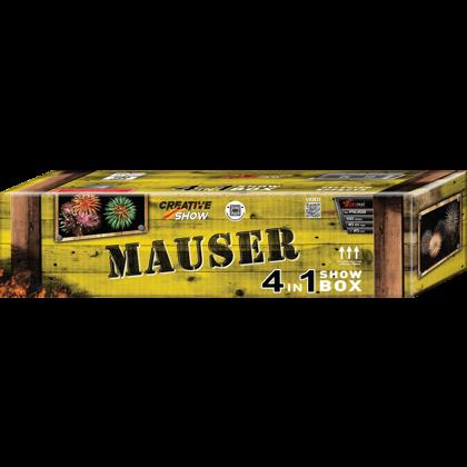 """Stobru bloks, baterija, salūts """"Mauser"""", PXC208 - 100 šāvieni 25mm"""