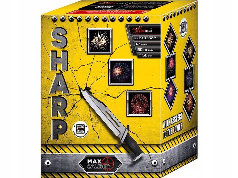 """Stobru bloks, baterija, salūts """"Sharp"""", PXB3622 - 12 šāvieni 50mm"""