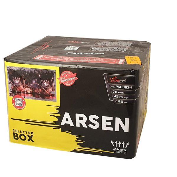 """Stobru bloks, baterija, salūts """"Arsen"""", PXB3934 - 78 šāvieni 25mm + vēdeklis"""
