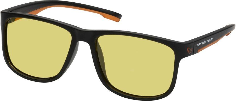 Polarizētās Saulesbrilles Savage Gear Savage 1 Polarized Sunglasses Yellow - Dzelteni stikli