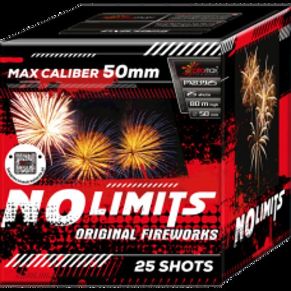 """Stobru bloks, baterija, salūts """"No Limits"""", PXB3925 - 25 šāvieni 50mm"""