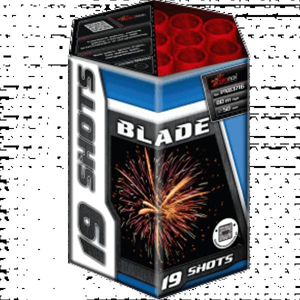 """Stobru bloks, baterija, salūts """"Blade"""", PXB3716 - 19 šāvieni 50mm"""