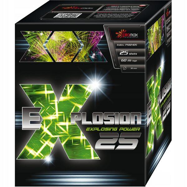 """Stobru bloks, baterija, salūts """"Explosion 25 green"""", PXB2405 - 25 šāvieni 30mm"""