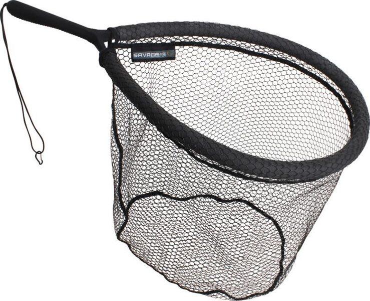 Uztveramais tīkls Savage Gear Pro Finezze Rubber Mesh Net 40x50x50cm Floating