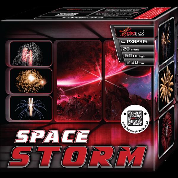 """Stobru bloks, baterija, salūts """"Space Storm"""", PXB2315 - 20 šāvieni 30mm"""
