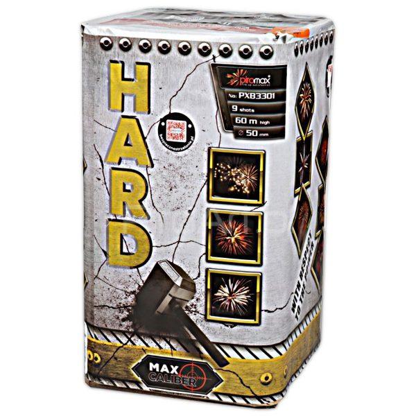 """Stobru bloks, baterija, salūts """"Hard"""", PXB3301 - 9 šāvieni 50mm"""