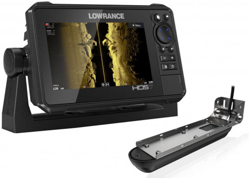Eholote Lowrance HDS-7 LIVE Active Imaging 3-in-1 ar devēju