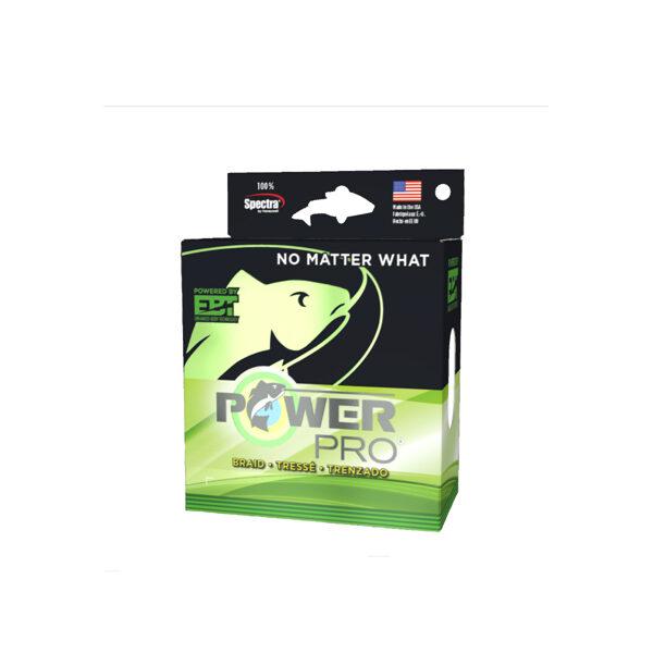 Pītā aukla Power Pro 135m; 0.06mm; tests 3kg; sūnu zaļa