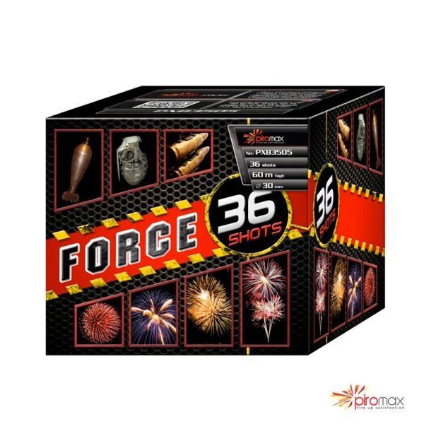 """Stobru bloks, baterija, salūts """"Force 36"""", PXB3505 - 36 šāvieni 30mm"""