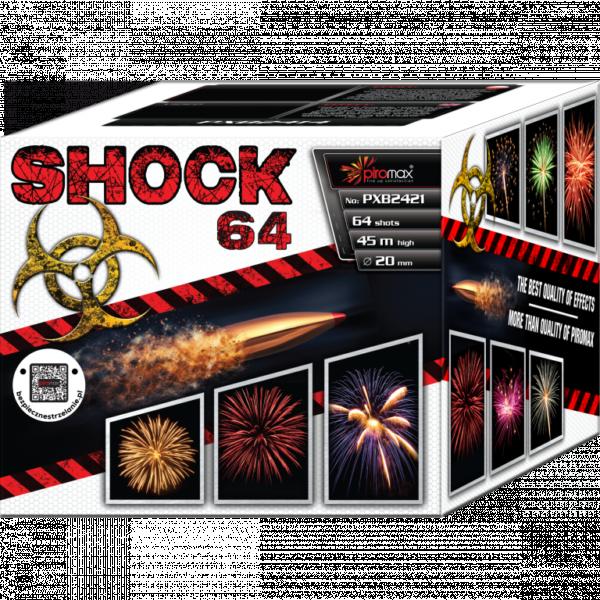 """Stobru bloks, baterija, salūts """"Shock 64"""", PXB2421 - 64 šāvieni 20mm"""