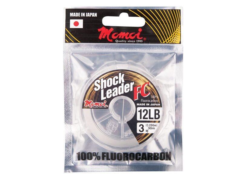 0.234mm Momoi Fluorocarbon Shock Leader FC 30m 3.63kg - fluorkarbona aukla